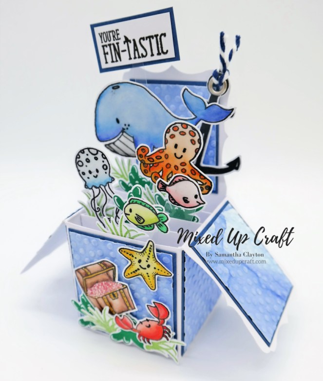 Under The Sea Themed Pop Up Box Card