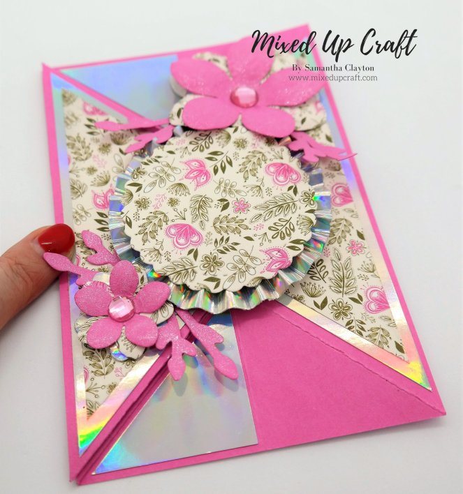 Tricorn Style Fold Card - Mixed Up Craft Original Design