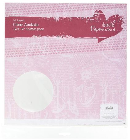 Docrafts, Papermania Clear Acetate.
