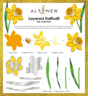 Altenew Layered Daffodil Die Collection