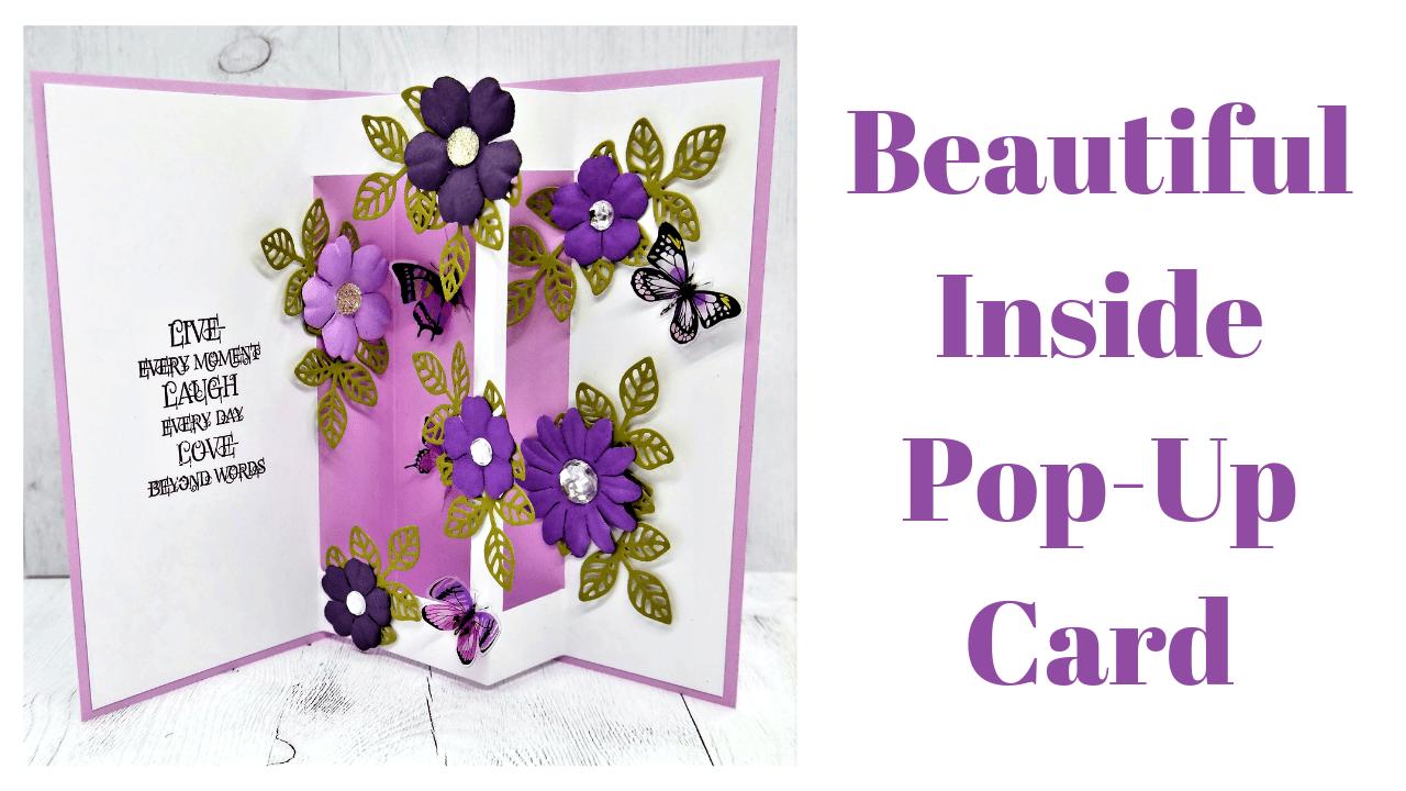 Basteln mit Papier: DIY Blumen Pop-Up Karten - 3D - DIY Geschenke ... | 720x1280