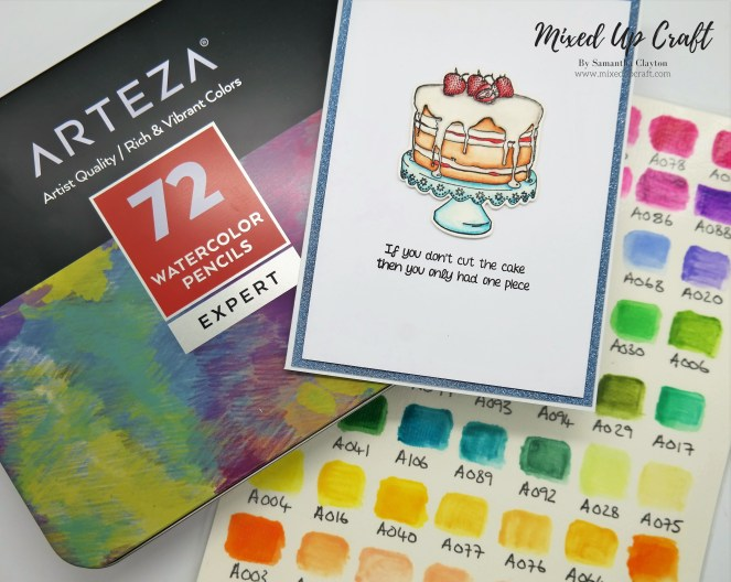 Cardmaking Using Arteza Watercolour Pencils