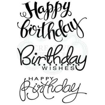 Big Birthday Words stamp set