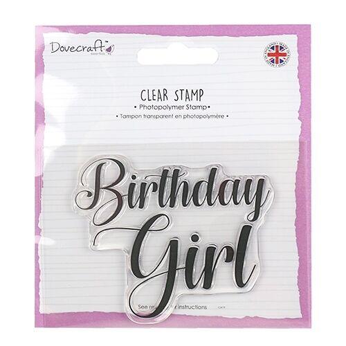 Dovecraft 'Birthday Girl' stamp