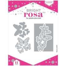 Bright Rosa Butterfly Border Dies