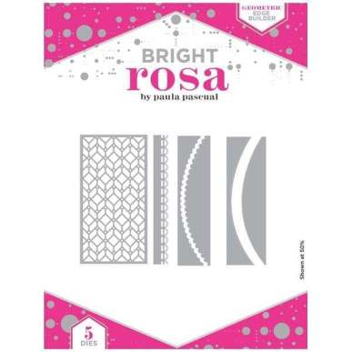 Bright Rosa Geometric Edge Builder Die Set
