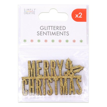 Simply Creative Glittered Sentiments