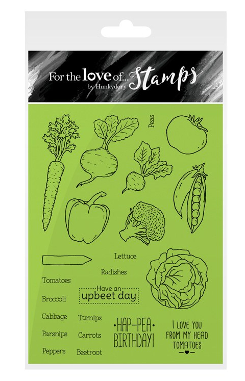 Hunkydory Mixed Vegetables Stamp Set