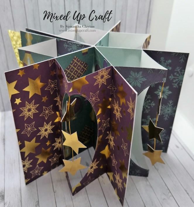 Large Expanding Star Fold Card