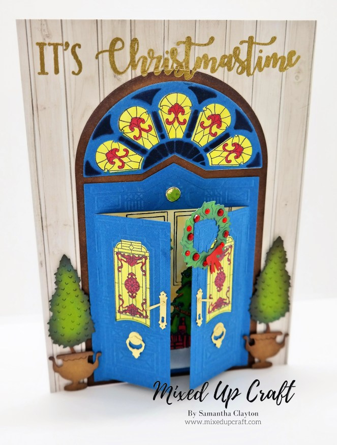 Christmas Fancy Door Card