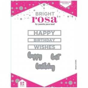 Bright Rosa Birthday Words Die Set
