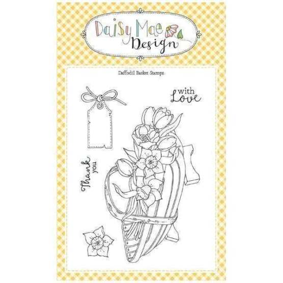 Daisy Mae Designs Daffodil Basket stamp set