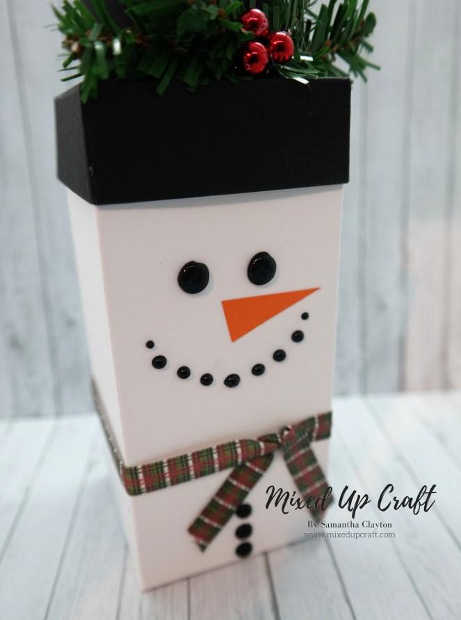 Cute Snowman Flip Lid Gift Box
