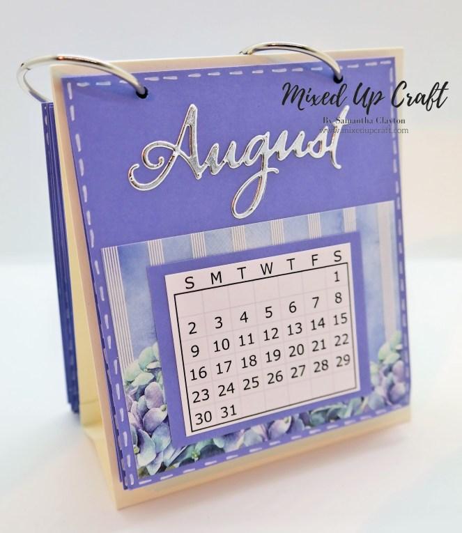 Easy Mini Desk Calendar