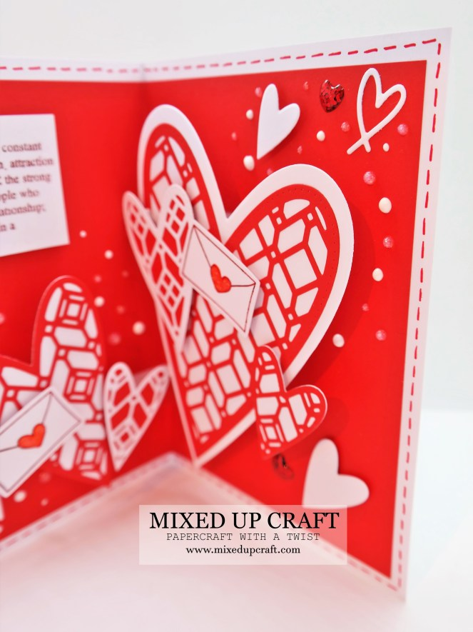 Spray of Hearts Pop Up Card
