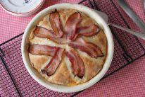 Working on next week's Breakfast in Bed post - Bacon Biscuit Pie!