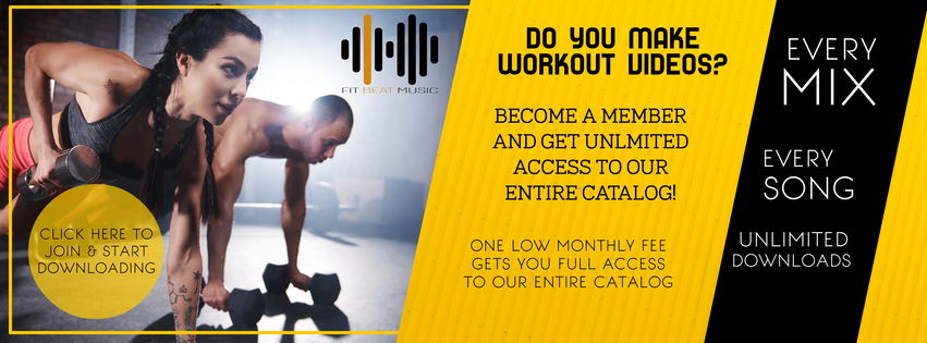 royalty free fitness music membership subscription unlimited download for video