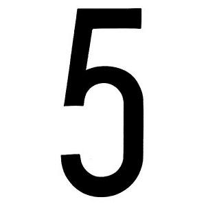 "Lampa ΑΥΤΟΚΟΛ. ΑΡΙΘΜΟΣ ΠΙΝΑΚΙΔΩΝ ""5"""