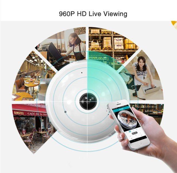 360° Panoramic Camera Light Bulb