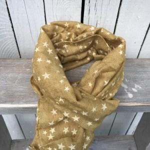 Sjaal Oker Stars