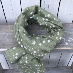 Sjaal Green Stars