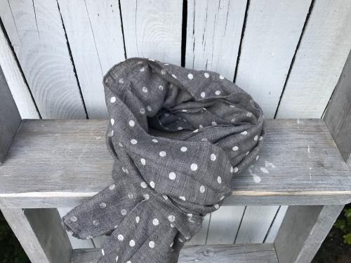 Sjaal Grey Dots