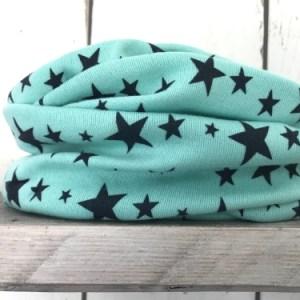 Mintgroene colsjaal met sterren