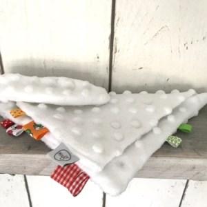 Wit Knuffeldoekje / Sleepy voor jongens en meisjes