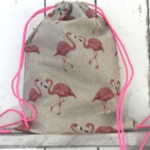Rugtasje / Zwemtasje Flamingo