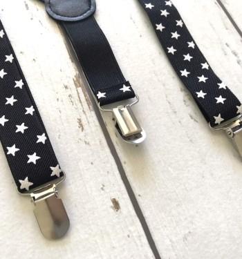 Zwarte bretels met sterren