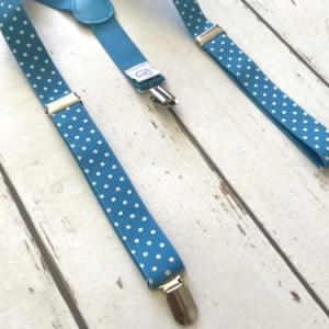Bretels voor kinderen: Lichtblauwe bretels met stippen