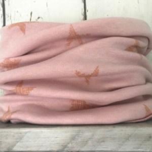 Roze colsjaal met sterren