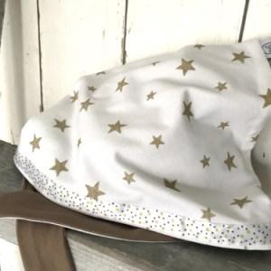 Witte bandana met gouden sterren
