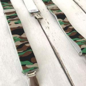Bretels met legerprint