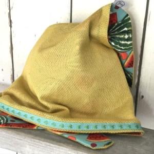 Vrolijke okergele bandana voor meisjes