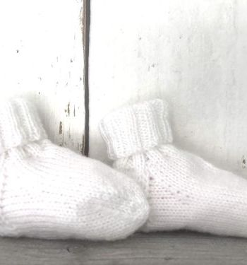 Witte babyslofjes