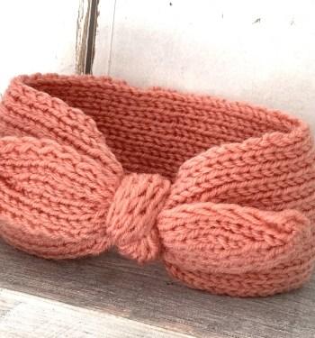 Roze hoofdband strik