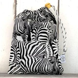 Knikkerzak Zebra