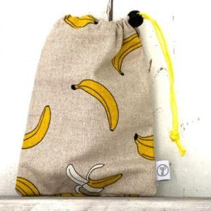 Knikkerzak met bananen