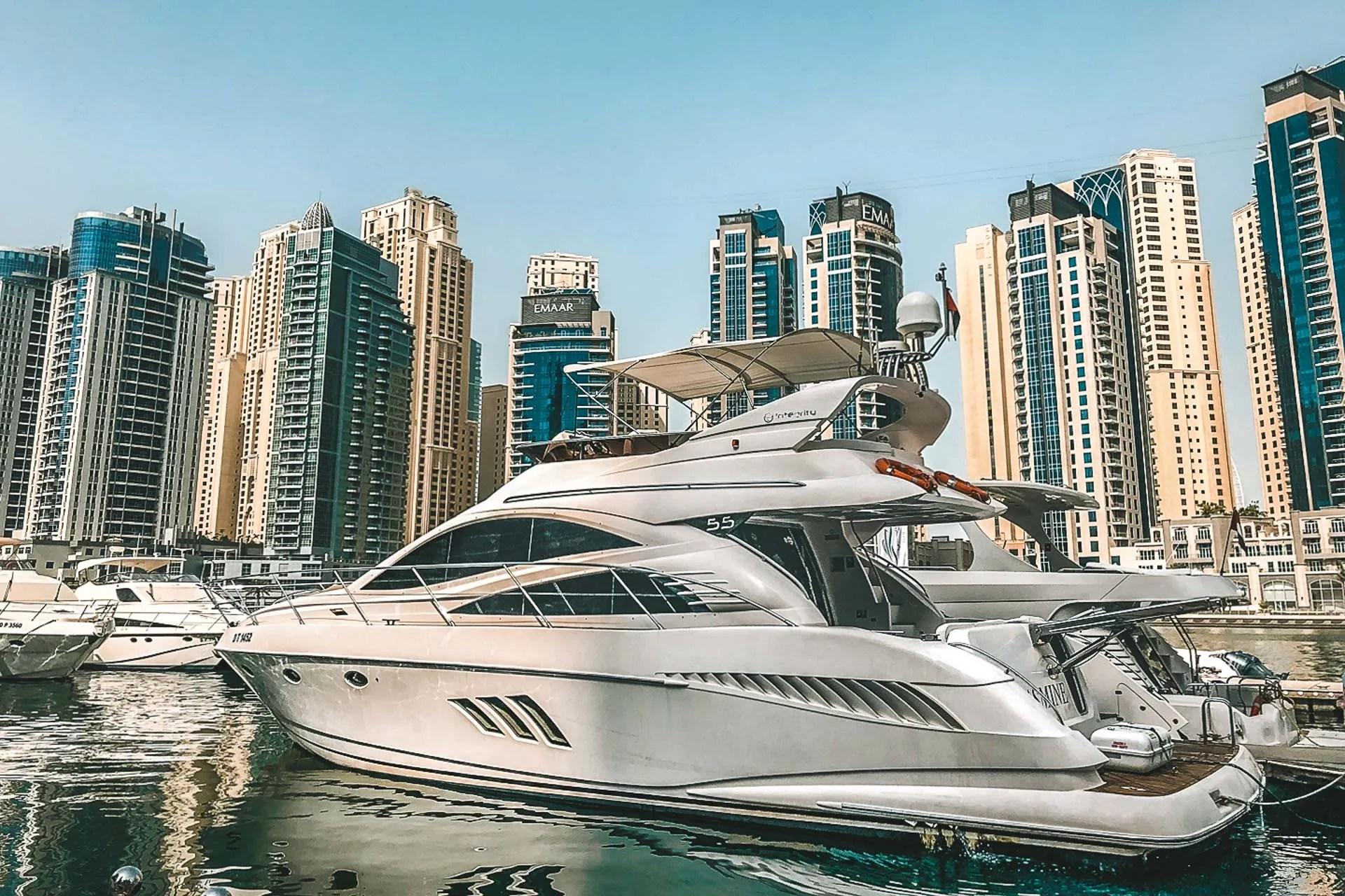Dubai, Dubai yacht, Dubai yacht rental, Dubai yacht tour, Dubai tours, Dubai itinerary, 3 days in Dubai, Dubai on water, Water activity Dubai, Luxury yacht in Dubai