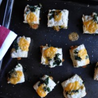 Savory Scones. Flaky and buttery, with kale and cheddar.