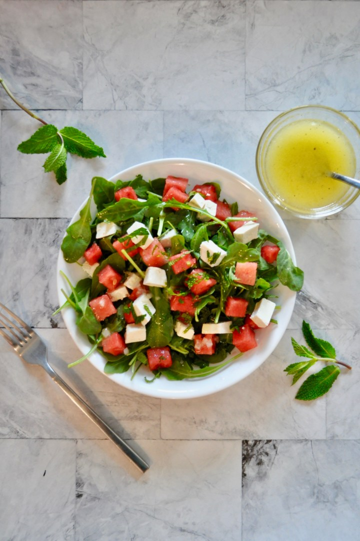 Arugula, Watermelon, and Feta Salad ~ gf, veg
