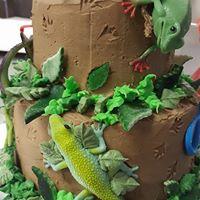 Reptile 2 Tier Cake