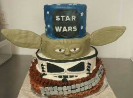 Star Wars 4 tier cake