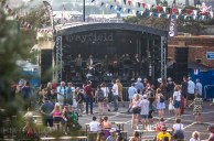 A band playing on the Mayfield, Craft Beer Stage. If you look closely in the top right corner, you can see Ocean Colour Scene on a screen
