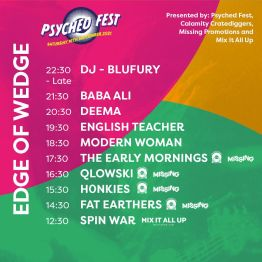 Edge of the Wedge Psyched Fest Portsmouth Stage Times