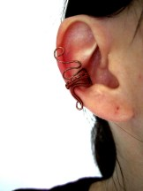 ear cuff - bague d'oreille wire wrapping en cuivre