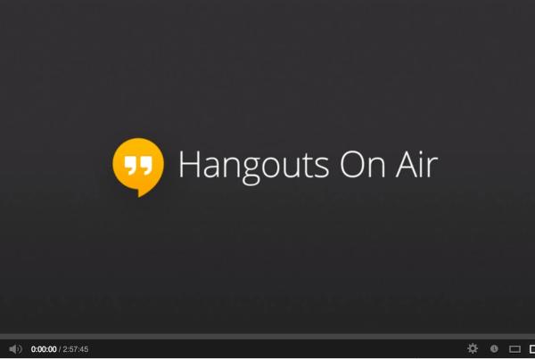 google hangouts on air banner