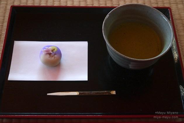 庭園のお休み処ではぜひ、抹茶と和菓子で一服を!