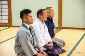 最前列の青年会会長、宮司、神幸会会長